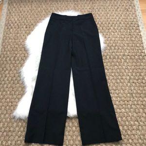 Ann Taylor Loft Laura black Wide leg lined pants 2
